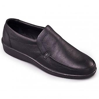 Padders Digger Mens Leather (f Fit) Loafers Black