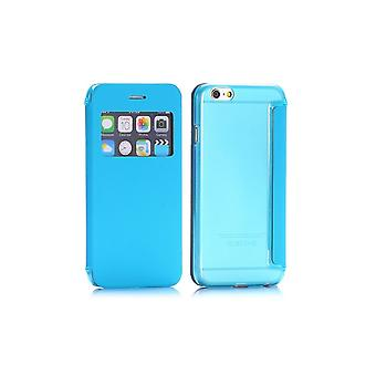 Blue Flip Case - Back Shell With Window For Apple IPhone 6 4.7