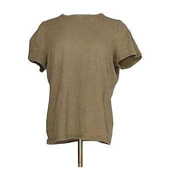 G.I.L.I. got it love it Women's Top Short Sleeve Crew Neck Green A298277