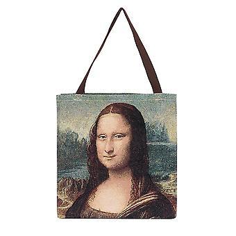 Da vinci - mona lisa shopper gusset bag by signare tapestry / guss-art-ldv-mona