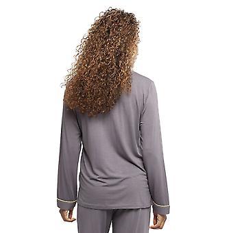 Cyberjammies 4353 Women's Willow Grey Modal Knit Pyjama Top
