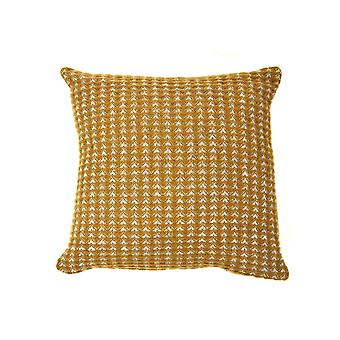 Tweedmill Pure New Wool Treetop Design Cushion - Moutarde anglaise 30cm X 30cm