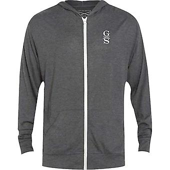 Grunt Style Basic Lightweight Tri-Blend Full Zip Hoodie - Gray athlétique