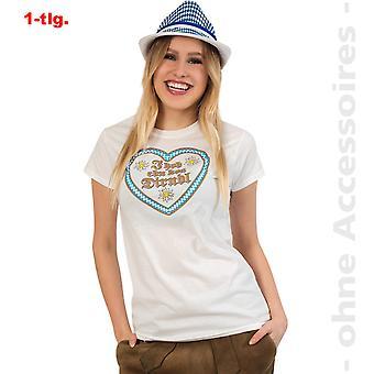 Oktoberfest  Kostüm Damen Herzshirt Shirt Herz Damenkostüm