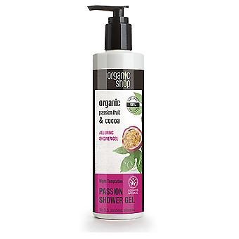 Organic Shop Passion Fruit and Cocoa Temptation Night Shower Gel 280 ml