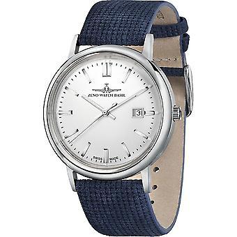 Zeno-Watch - Relógio de Pulso - Homens - Luc Vintageline Quartz prata - 5177-515Q-i3