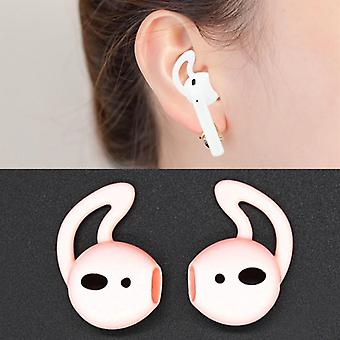 For Apple Airpods Pink Silicone Ear Caps with Precise Opening