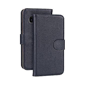 Samsung Galaxy NOTE 9 tapauksessa muoti navy cowhide aitoa nahkaa ohut lompakko