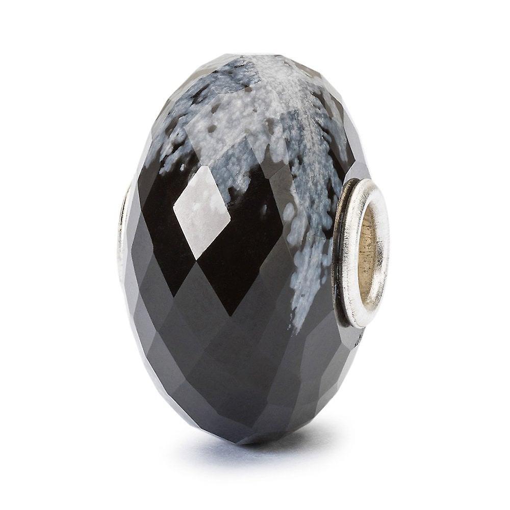 Trollbeads Snowflake Obsidian Facet Bead