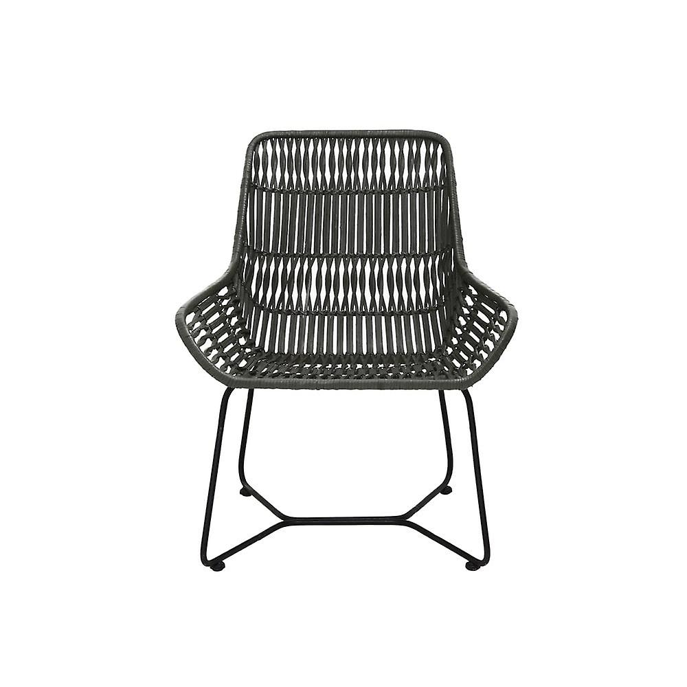 Chaise légère et vivante 68.5x64x78cm Petung Rattan Olive Green
