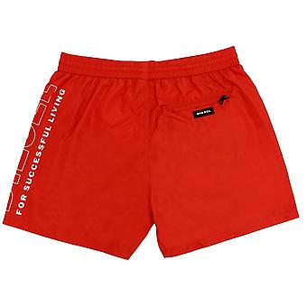 Diesel Fold and Go Logo Swim Shorts - Red