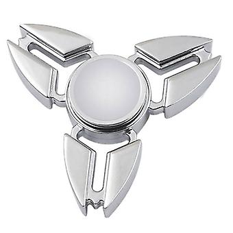 Stuff Certified® Falcon Tri Fidget Hand Spinner Anti Stress Shifter Toy Silver