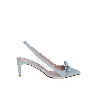 Red Valentino Tq2s0c04cxaa98 Women's Light Blue Leather Sandals