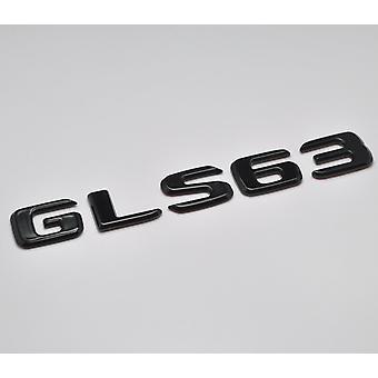 Glanz schwarz GLS63 flach Mercedes Benz Auto Modell hintere Boot Nummer Brief Aufkleber Aufkleber Abzeichen Emblem für GL-Klasse X164 X166 X167 AMG