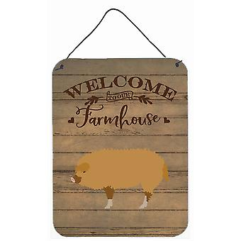 Hungarian Mangalica Pig Welcome Wall or Door Hanging Prints