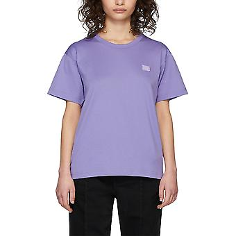 Acne Studios 25e173adh Women's Lila cotton camiseta