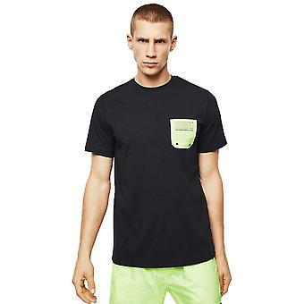 Diesel Beachwear Chest Pocket Logo Black T-shirt