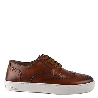 Oliver Sweeney Men's Burwell Tan Leather Brogue Trainer