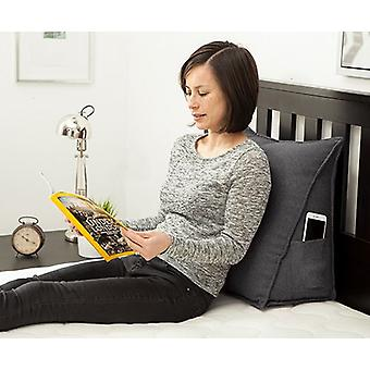 Passende Schlafzimmer Zinn hellgrau weiche Wolle fühlen Bean Bag Bett Keil zurück Unterstützung Kissen