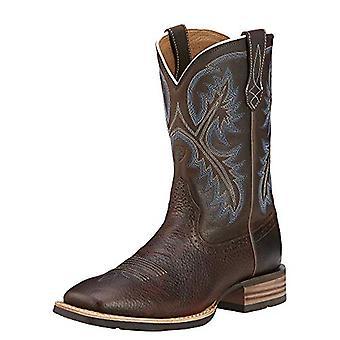 Ariat Mens Quikdraw Deri Kare Ayak Diz Yüksek Batı Boots