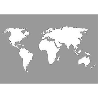 Mapa mundial do estêncil da Máscara pronty 470.802.070 A5