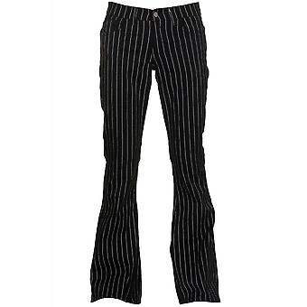 Run & Fly Pinstripe Bell Bottom Stretch Flares