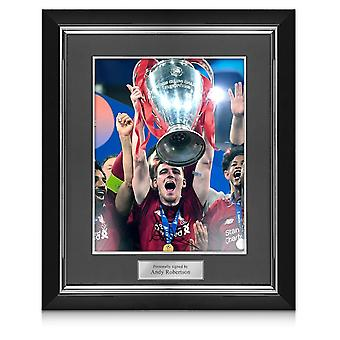 Andrew Robertson Signed Liverpool Photo: 2019 Champions League Winner. In Deluxe Frame