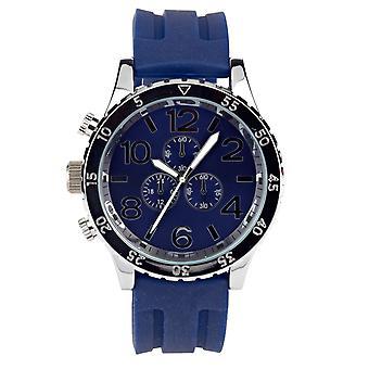 Eton Mens Blue Silicone Strap Watch, Case: 48mm - 3270J-BL