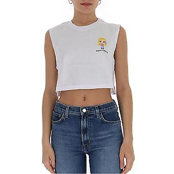 Chiara Ferragni Cftp017 Femmes-apos;s White Cotton Top