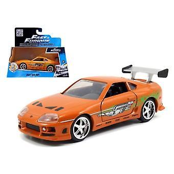 Brian'S Toyota Supra Orange - Fast & Furious Película 1/32 Diecast Model Car De Jada