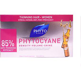 Phyto Phytocyane Densifying Anti-Hair Loss Treatment 12 Ampoules (Hair care , Hair Loss)
