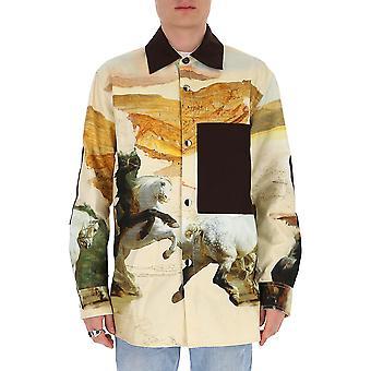 Acne Studios B90274multicolor Men-apos;s Multicolor Cotton Shirt