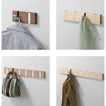 LoCa Garderobe Knax 6 weiß (Haken klappbar Alu)