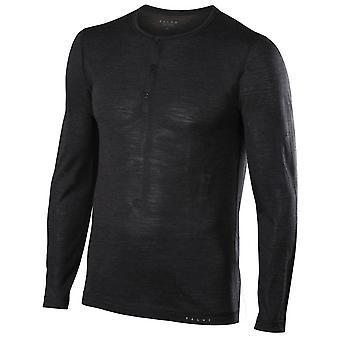 Falke-Seide-Wolle-Langarm-Shirt - Anthrazit