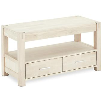 Furnhouse Texas TV Stand, massive Eiche, Seifenfinish, 2 Schubladen, 102x45x55 cm
