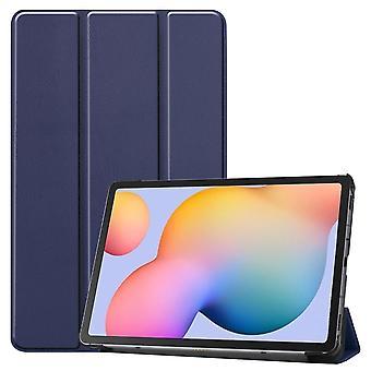 Premium Smartcover Blau Tasche Etuis Hülle für Samsung Galaxy Tab S6 Lite P610 P615