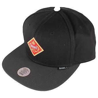 Djinns 6 Panel Cigar Snapback Cap - Black