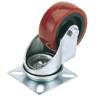 Draper 65513 75mm Diameter Swivel Plate Fixing Polyurethane Wheel - S.W.L. 70Kg
