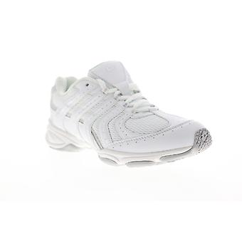 Lotto Newbeat  Womens White Canvas Lace Up Athletic Running Shoes