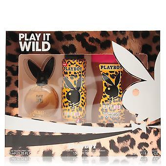 Playboy Womens Play It Wild EDT 3 Piece Set Ladies