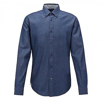 Hugo Boss Rod_2 Dark Blue Denim Long Sleeve Shirt 50427220