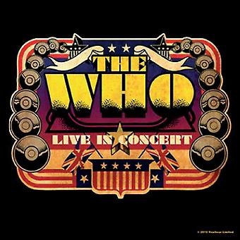 The Who Coaster Live In Concert USA new Official 9.5cm x 9.5cm single cork