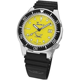 Squale Diver Watch Professional 1521-026/A polished yellow rubber black