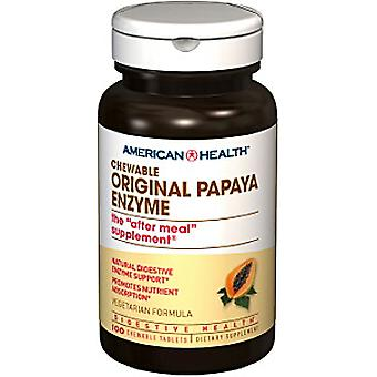 American Health Original Papaya Enzym tyggetabletter 100 Ct