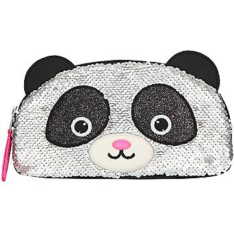Snukis Beauty Bag Reversible Sequins Panda