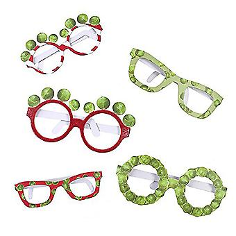 Novelty Sprout Christmas Fun Glasses  - Party Prop X 6