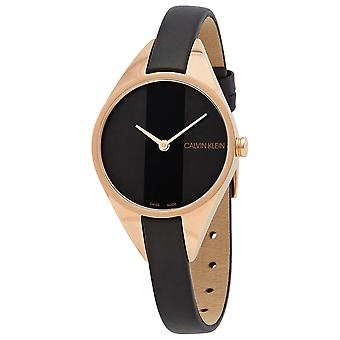 Calvin Klein K8P236C1 Rebel Quartz Black Dial Ladies Watch