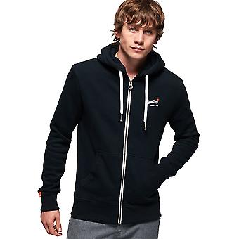 Superdry Mens Orange Label Full Zip Lightweight Hoodie
