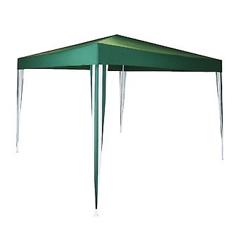 Charles Bentley 3x3m Polyester Gazebo Grün/Streifen duschfest Ideal für Outdoor-Events