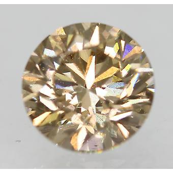 Cert 0.70 Carat Fancy Brown VVS2 Round Brilliant Natural Diamond 5.44mm 3VG